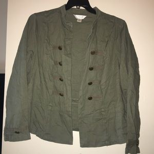 CJ Banks Green Military Style Jacket